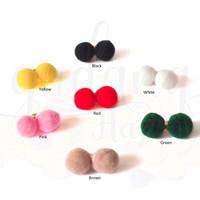 Anting Stud Simple Mini Pompom Lucu GH 203557