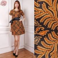 Dress Midi Batik Vivah Short Dress Wanita