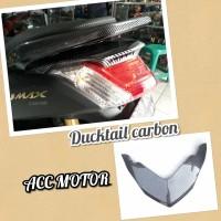 ducktail nmax carbon printing nemo topi lampu nmax carbon