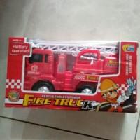 Mainan anak mobil damkar pemadam kebakaran bump n go