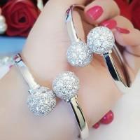 xuping gelang bangle lapis emas putih 24k terlaris 1256