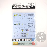 Gundam Decal For MG GM Sniper II & GM Command
