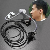 FBI Headset Earphone HT Handy Talkie Walkie Talkie PTT 2 Pin Kenwood