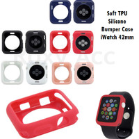 Softcase Casing Bumper Apple Watch 42mm Multicolour Silicone Case