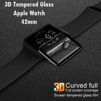 Tempered Glass Apple Watch 1/2/3 3D Curved Full Cover 42mm