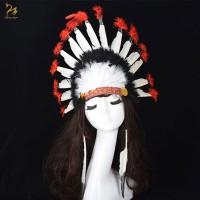 Topi kepala suku indian cherokee chief hat halloween party new year