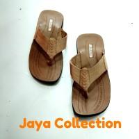 Sandal pria kulit sapi asli jc15 coklat