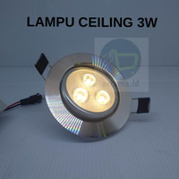 LAMPU CEILING DOWNLIGHT 3WATT LED 3MATA MOVABLE SPOTLIGHT