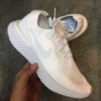Nike Epic React Flyknit White / Pink Women's Shoes