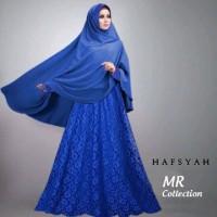 Gamis hafsyah @160 brukat full furing busui jilbab jersey fit xl ld 10