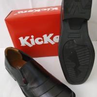Sepatu fantovel pria bahan kulit sapi asli pantovel flat pantofel