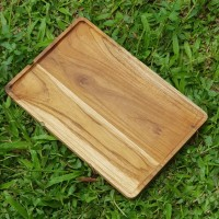 nampan kayu jati /wooden tray 20 cm x 30 cm