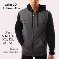 Jaket Pria Jumbo Hoodie Wanita S, M, L, XL-5XL Big Size Jacket Sweater - Tulis Warna, M
