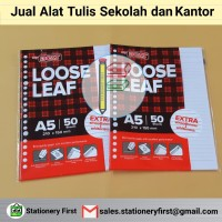 Loose Leaf Kertas File Binder A5 isi 50 lembar