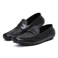 Sepatu slip on loafers pria slop casual sneaker crocodile puma adidas