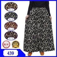 Celana Kulot Jumbo Motif Bunga Bahan Katun Linen