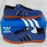 Adidas Hamburg Blue Black sepatu sneakers murah size 40 keatas ori