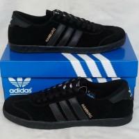 Adidas Hamburg Total Black sepatu sneakers murah size 40 ori