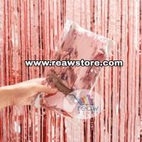 Tirai Foil / Curtain Slinger Foil / Backdrop Foil Rose Gold