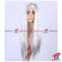 WIG COSPLAY - Wig Panjang. Wig Putih / Silver. Rambut Palsu