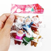 AP95 Hiasan Pohon Natal Santa Glitter Mini | Aksesoris Christmas
