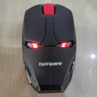 TaffWare Mouse Wireless Optical Iron Man 2.4Ghz - Black