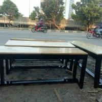 kursi kayu/kursi panjang/bangku kafe/kursi resto/kursi jati belanda