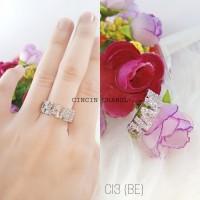 Cincin Lapis Emas Putih Asli ( ANTI IRITASI & TIDAK LUNTUR ) - BL331