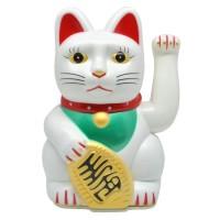 Maneki Neko Sempoa   Kucing Keberuntungan Kucing Pemanggil Uang 16cm