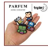 PARFUM MOBIL / PEWANGI Karakter Hulk Captain Thor Ironman Baymax DC