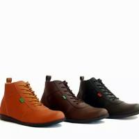 Sepatu Sneakers Boots Kickers Brodo Pria Casual Tinggi Boot Original