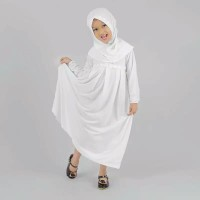 Baju Gamis Anak Perempuan Jersey - Putih - S