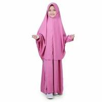 Baju Gamis Anak Syari Polos - Pink - M