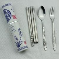 sendok garpu korea set