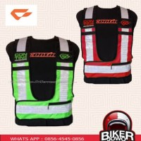 Contin Hiviz Vest Red - Green ( Rompi Safety Touring & Daily Riding)