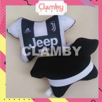 Car Set Bantal Mobil Bola Juventus Bantal Tulang/Sandaran Jok Mobil