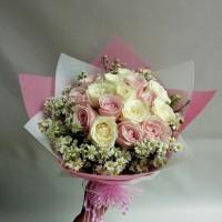 Buket bunga wisuda bunga mawar asli hand boquet florist