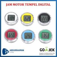 Jam Motor Tempel Mobil Sepeda Waterproof Anti Air Digital Mini Handle