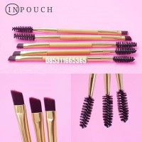 INPOUCH Eyebrow Brush 2in1 | Kuas & Sikat Alis Gold (FEC)