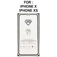 Tempered Glass iPhone X - iPhone XS anti gores hp full screen guard 5D
