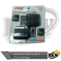 Colokan Safety Belt 2 in 1 Hitam Mobil Mitsubishi Kuda