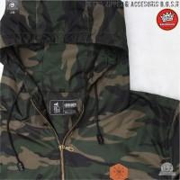 Jaket cagoule camo B.G.S.R / Jaket Parka waterproof pria premium