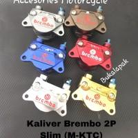 Kaliper Brembo 2 Piston Slim Full CNC Model KTC