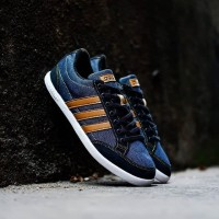 Adidas Neo Caflaire Blue Denim Black Brown