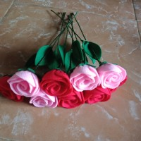 Bunga mawar flanel / bunga artificial / bunga palsu