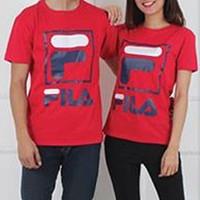 Baju Couple Kaos Couple Oblong Pasangan Soulmate Fila 11145