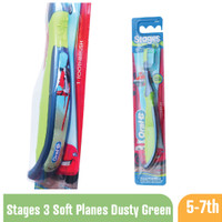 ORAL-B Sikat Gigi Anak Stages 3 (5-7 Y) - Soft - Planes Dusty Green