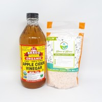 Paket Hemat Bragg Apple Cider Vinegar 473 ml + Himalayan Salt 250 Gr