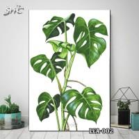 Hiasan Dinding Poster Kayu Quotes Flora Daun Home Decor Rumah LEA-002