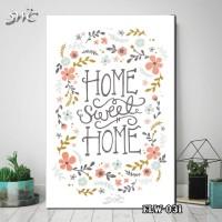 Hiasan Dinding Poster Kayu Quotes Flora Bunga Home Decor Rumah FLW032